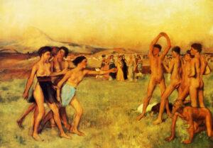 Эдгар Дега.Спартанские девушки вызывают на состязание юношей. 1860 г.