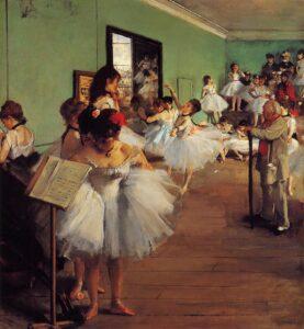 Эдгар Дега.Танцевальный класс.1874 г.