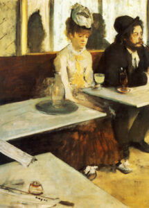 Эдгар Дега. В кафе (Абсент).1876 г.