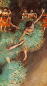Эдгар Дега.Зеленая танцовщица.1879 г.