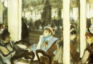 Эдгар Дега.Женщины на террасе кафе.1877г