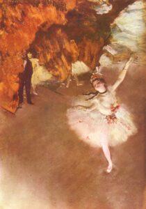 Эдгар Дега.Звезда. Танцовщица на сцене.1878 г.