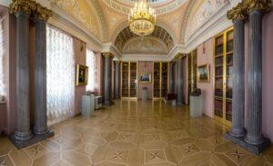 Минеральный кабинет в Строгановском дворце.