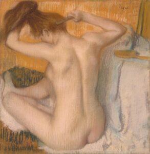 Эдгар Дега. Причёсывающаяся женщина.1885 г.