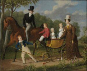 Воронихин с семьей. Художник А. Ф. Лагрене. 1810-е гг.