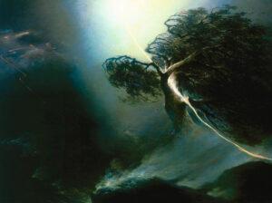 М.Н.Воробьев. Дуб, раздробленный молнией. Аллегория на смерть жены художника. 1842 г.