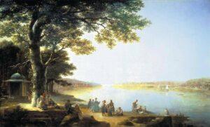 М.Н.Воробьев.Босфор. Вид на Константинополь.1829 г.