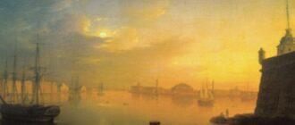 М.Н.Воробьев.Лунная ночь в Петербурге. 1839 г.