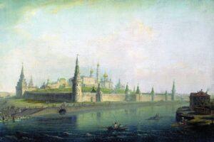 М.Н.Воробьев.Вид Московского Кремля (со стороны Каменного моста).1819 г.