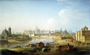 М.Н.Воробьев.Вид Московского Кремля (со стороны Устьинского моста).1818 г.